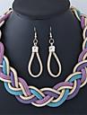 Жен. Комплект ювелирных изделий Серьги Ожерелья - Мода Свисающие Золотой Черный Лиловый Красный Назначение Повседневные
