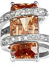 Homens Mulheres Aneis para Falanges Anel de noivado Zirconia Cubica Zircao Cobre Forma Geometrica Joias Casamento Festa Aniversario