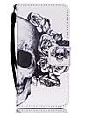 maiusculas e minusculas para ipod touch5 / 6 capa capa carteira carteira com suporte flip pattern caixa de corpo inteiro skull hard pu