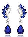 Women\'s Drop Earrings - Drop Ladies Red / Green / Blue For Wedding Party