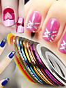 Diecut Manicure Stencil Nail Stamping Template Daily Fashion High Quality