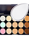 15 Concealer/Contour Powder Puff Wet Matte Shimmer Long Lasting Non Toxic Comfortable Fashion Normal Breathability Formaldehyde Free