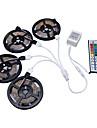 hkv® 20m (4x5m) rgb 3528smd 1200led rgb led luzes de tira flexiveis sem impermeabilidade com kit de controle remoto 44key ir dc 12v