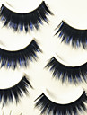 Eyelashes lash Full Strip Lashes Eyes Thick Colorful Volumized Handmade Fiber Black Band 0.07mm 13mm