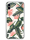 Capinha Para Apple iPhone X / iPhone 8 Ultra-Fina / Transparente / Estampada Capa traseira Flor Macia Borracha para iPhone X / iPhone 8 Plus / iPhone 8