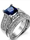 Women\'s Knuckle Ring Band Ring Cubic Zirconia 2pcs Classic Elegant Fashion Sweet Gift Zircon Copper Geometric Costume Jewelry Wedding