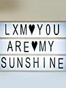 Presentes romanticos lightbox diy cute free combination caixa de luz cinematografica com preto + set de letras coloridas