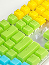 AJ Crystal Mechanical Keyboard Key Cap 104 All-Key Two-Color Transparent Color Key Hat Polychromatic Optional