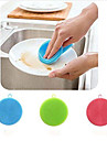High Quality 1pc Silicone Cleaning Brush & Cloth Foldable Multi-functional, Kitchen Cleaning Supplies