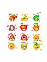 Мультипликация Мода Продукты питания Наклейки Простые наклейки Декоративные наклейки на стены,Винил материал Украшение дома Наклейка на