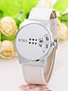 Муж. Жен. Нарядные часы Модные часы Наручные часы Китайский Кварцевый PU Группа С подвесками Повседневная Элегантные часы Черный Белый