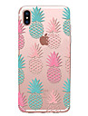 Capinha Para Apple iPhone X iPhone 8 Transparente Estampada Capa traseira Fruta Macia TPU para iPhone X iPhone 8 Plus iPhone 8 iPhone 7