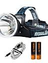 Boruit® B10 Lanternas de Cabeca 1200 lm 4.0 Modo LED com Pilhas e Cabos USB Profissional Ajustavel Alta qualidade Campismo / Escursao /