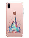 Capinha Para Apple iPhone X iPhone 8 Transparente Estampada Capa traseira Desenho Animado Macia TPU para iPhone X iPhone 8 Plus iPhone 8
