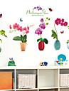 цветочные / ботанические наклейки стены плоские стикеры стены декоративные наклейки на стены, виниловый материал