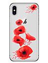 Назначение iPhone X iPhone 8 Чехлы панели Прозрачный С узором Задняя крышка Кейс для Мультипликация Цветы Мягкий Термопластик для Apple
