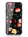 Coque Pour Apple iPhone X iPhone 8 Antichoc Motif Coque Arriere Mot / Phrase Fleur Dur Verre Trempe pour iPhone X iPhone 8 Plus iPhone 8