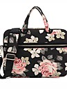 13.3 14.1 15.6 inch Rose Pattern Laptop Shoulder Bag with Strap Hand Bag for Surface/Dell/HP/Samsung/Sony etc