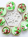 Формы для пирожных Круглый конфеты силикагель День Благодарения Новый год День рождения Праздник