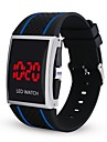 Men\'s Digital Watch Digital Silicone Black / White / Red Chronograph Luminous Casual Watch Digital Casual Fashion - Red Black / White Black / Blue One Year Battery Life / Stainless Steel