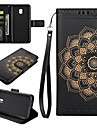 Case For Samsung Galaxy J5 (2017) J3 (2017) Card Holder Wallet with Stand Flip Embossed Full Body Cases Mandala Hard PU Leather for J7