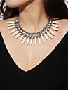 Női Nyilatkozat nyakláncok Hamis gyémánt hölgyek Vintage Bohém Boho Fehér Nyakláncok Ékszerek Kompatibilitás Farsang Fesztivál