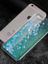 Case For Apple iPhone 7 Plus iPhone 7 Flowing Liquid Transparent Pattern Back Cover Geometric Pattern Glitter Shine Hard PC for iPhone 7