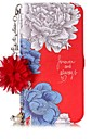 Case For Apple iPhone X iPhone 8 Card Holder with Stand Flip Pattern DIY Full Body Cases Word / Phrase Flower Hard PU Leather for iPhone