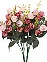 زهور اصطناعية 2 فرع النمط الرعوي الورود أزهار الطاولة