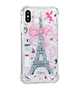 Case For Apple iPhone X iPhone 8 Plus Flowing Liquid Pattern Back Cover Eiffel Tower Soft TPU for iPhone 8 Plus iPhone 8