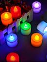 1set svjetlo svijeća hladna bijela rgb ružičasto crvena plava žuta zelena tipka baterija powered romantični ukras