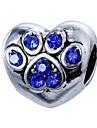 Joias DIY 10 Contas Roxo Rosa perola Vermelho Azul Claro Azul Real Coracao Bead 0.45 faca voce mesmo Pulseiras Colar