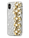 Capinha Para Apple iPhone X iPhone 8 Plus Com Strass Capa Protecao Completa Flor Rigida PU Leather para iPhone X iPhone 8 Plus iPhone 8