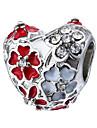DIY Jewelry 1 Beads Purple Pearl Pink Red Green Blue Heart Flower Rhinestone Alloy Bead 0.45 cm DIY Bracelet Necklace