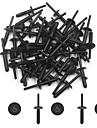 50Pcs Plastic Rivets Door Bumper Fender Car Push Type Fastener Clip 6mm for BMW