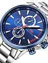 Men\'s Wrist watch Casual Watch Japanese Quartz Casual Watch Stopwatch Stainless Steel Band Casual Minimalist Cool Silver