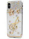 Case For Apple iPhone X iPhone 8 Plus Rhinestone Full Body Flower Hard PU Leather for iPhone X iPhone 8 Plus iPhone 8 iPhone 7 Plus