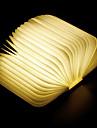 1шт Книга LED Night Light Теплый белый Встроенная литий-батарея Складной Перезаряжаемый Декоративный свет С портом USB Простота