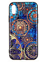 Capinha Para Apple iPhone X iPhone 8 Estampada Com Relevo Capa traseira Estampa Geometrica Rigida PC para iPhone X iPhone 8 Plus iPhone 8