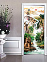 Landscape Scenic Wall Stickers Plane Wall Stickers 3D Wall Stickers Decorative Wall Stickers Door Stickers, Paper Vinyl Home Decoration