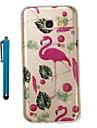 Capinha Para Samsung Galaxy A5(2017) A3(2017) IMD Estampada Glitter Brilhante Capa traseira Flamingo Macia TPU para A3 (2017) A5 (2017)
