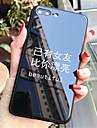 Etui Til Apple iPhone X / iPhone 7 Plus Mønster Bagcover Ord / sætning Hårdt Tempereret glas for iPhone X / iPhone 8 Plus / iPhone 8