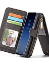 Etui Til Samsung Galaxy S9 Lommebok / Kortholder / med stativ Heldekkende etui Helfarge Hard ekte laer til S9