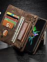 Capinha Para Apple iPhone X iPhone 8 Porta-Cartao Carteira Antichoque Com Suporte Flip Capa Protecao Completa Cor Solida Rigida couro