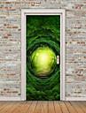 경치 아라베스크 벽 스티커 플레인 월스티커 3D 월 스티커 데코레이티브 월 스티커 도어 스티커, 비닐 홈 장식 벽 데칼 유리 / 욕실 벽