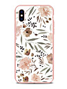 Case For Apple iPhone X iPhone 8 Plus Pattern Back Cover Flower Soft TPU for iPhone X iPhone 8 Plus iPhone 8 iPhone 7 Plus iPhone 7