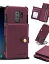 케이스 제품 Samsung Galaxy S9 S9 Plus 카드 홀더 충격방지 뒷면 커버 한 색상 하드 PU 가죽 용 S9 Plus Galaxy S9 S8 Plus S8