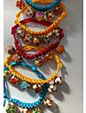 Chiens Chats Colliers Pliage reglable flexible Manches Pagode Couleur Pleine Nylon Jaune Rouge Bleu
