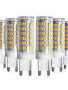 ywxlight® 5pcs regulable g9 9w 76led 2835smd lampara de maiz blanco calido blanco natural blanco led lampara de ceramica ac 220-240v