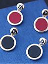Жен. Серьги-слезки - Мода европейский Круглый Назначение Для вечеринок